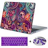 Macbook Air 11 inch Case,Mektron Plastic Print Hard Case with Dust Plug & Silicone Keyboard Cover For MacBook Air 11-inch Model A1465/A1370,Paisley