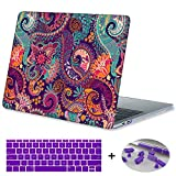 Macbook Retina 15 inch Case 2015,Mektron Soft-Touch Plastic Print Hard Case with Dust Plug & Silicone Keyboard Cover For Old MacBook Pro Retina 15-inch with Display Model A1398,Paisley