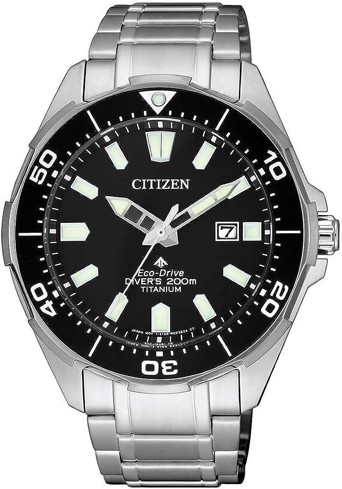 Citizen Reloj Analógico para Hombre de Cuarzo con Correa en Titanio BN0200-81E