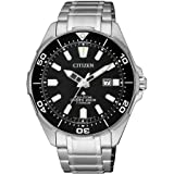 CITIZEN 西铁城 男士指针式石英手表 钛表带 BN0200-81E