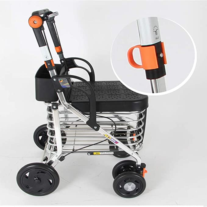 LLCC Carro portátil, Carro de Compras, Andador, diseño ergonómico ...