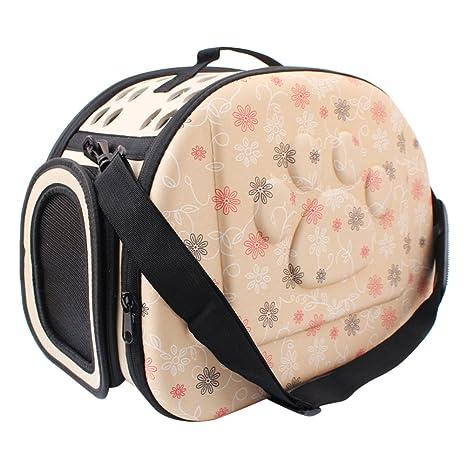 CTlite EVA Transportín para Mascotas, portátil, caseta de Viaje Plegable para Mascotas, Bolso