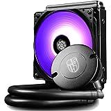 DeepCool Maelstrom 120T RGB Dissipatore Liquido CPU Cooler AIO Silenzioso (Simplificada) con 120mm PWM Ventola RGB, Ottimo Rapporto Prezzo/Prestazioni, 3 Anni di Garanzia