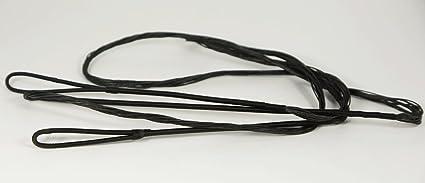 Traditional Archery Bowstring Nylon 12 Strand Handmade Bow Strings Black