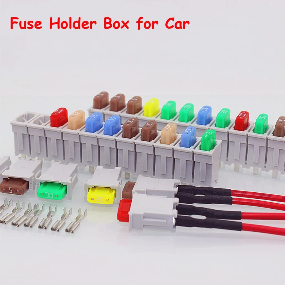 Amazon.com: 3 Sets 12 Way Multi Channel Small Size ATO Blade Fuse Box Block  Holder For Car Truck Auto With Fuses Terminals: AutomotiveAmazon.com