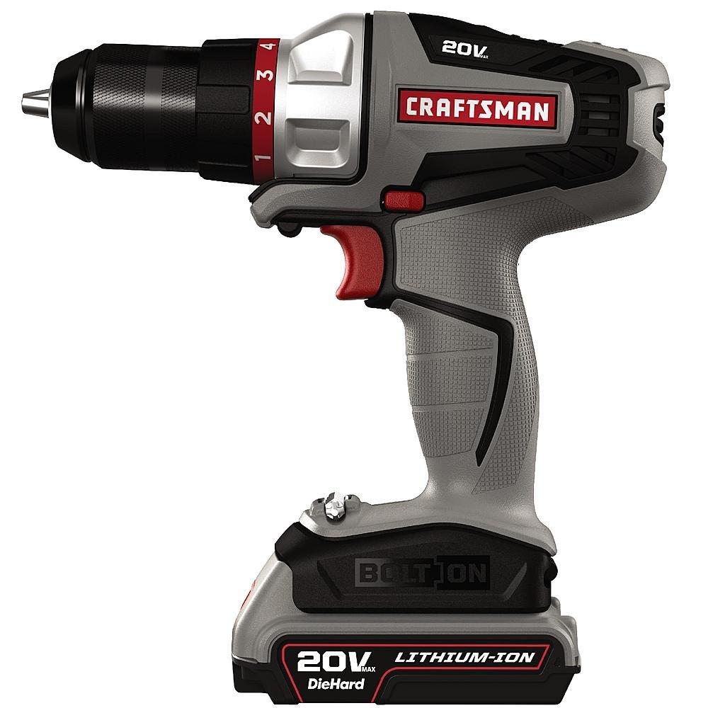 craftsman power tools. amazon.com: craftsman -16496 - bolt-on 20 volt max lithium ion drill/driver kit: home improvement power tools l
