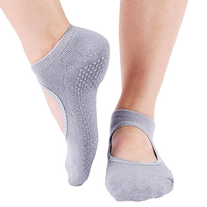 OPAKY Calcetines de Yoga para Hombre y Mujer Transpirables ...
