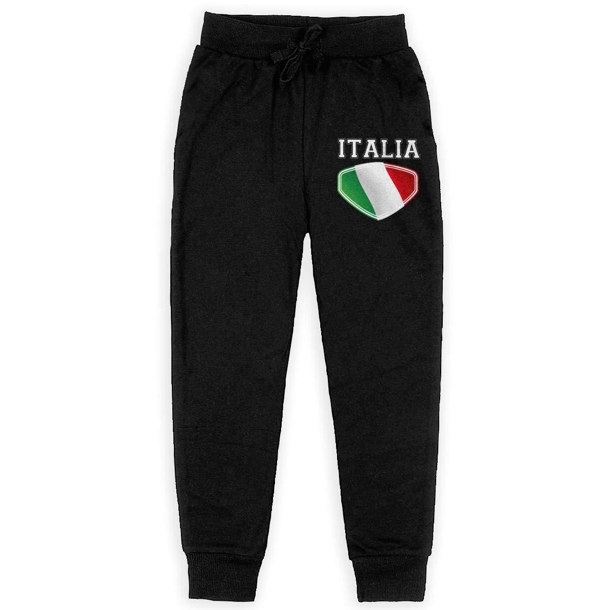 XinT Italia Italy Italian Flag Teenagers Boys Sweatpants Fashion Pants with Pockets
