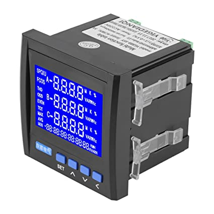 f06f88061ea11d Multifunction Digital Panel Meter, 3-Phase AC Electric LCD Voltage Meter,  Current Voltage
