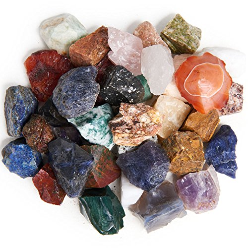 (Digging Dolls: 4 lbs Natural India Rough Stone Mix - Made with Over 30 Types of Indian Stones - Large Size - 1