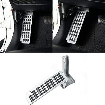 Foot Rest Dead Pedal Foot Kick Panel /& Heighten Gas Pedal Kit for 2007-2018 Jeep Wrangler JK /& Unlimited