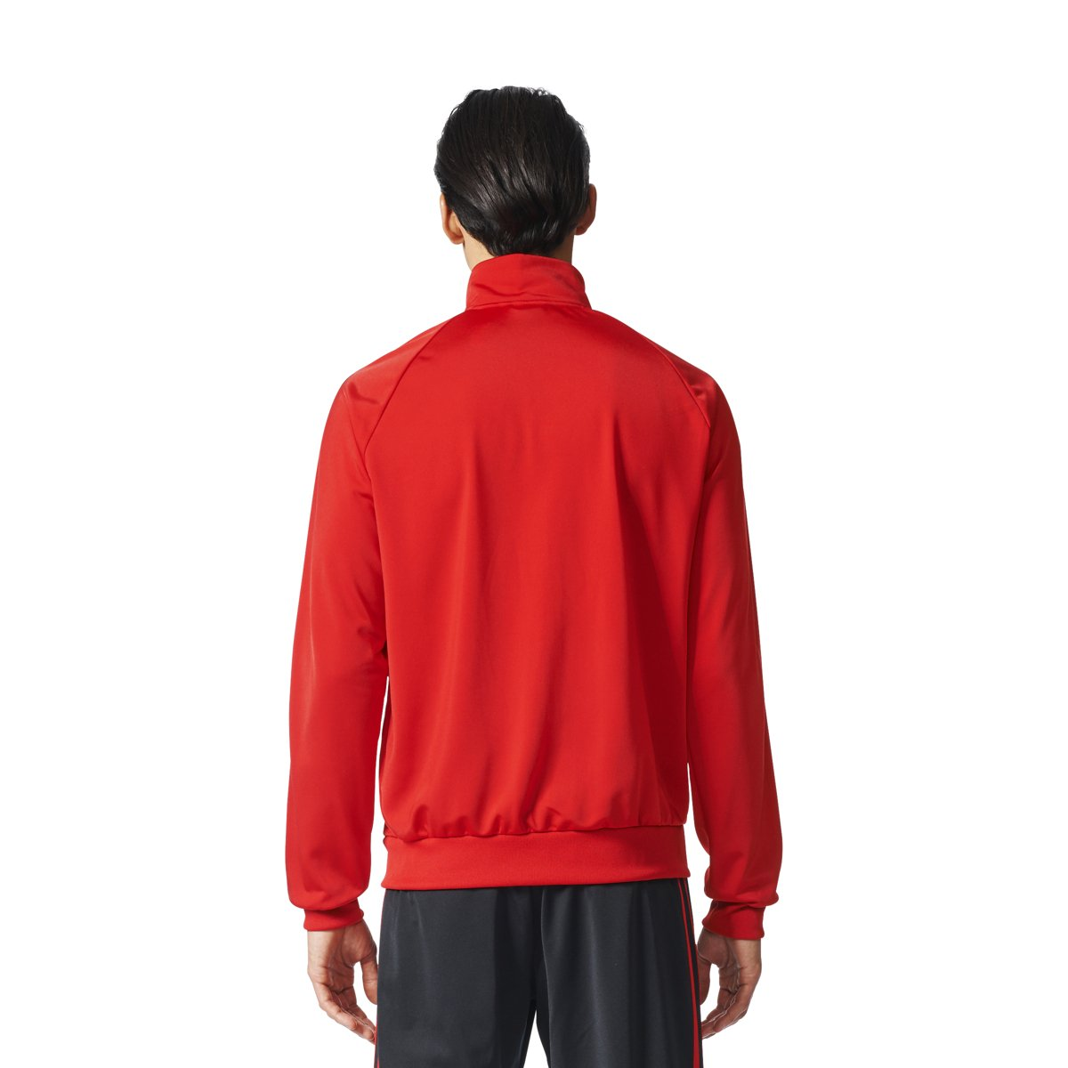 adidas Men's Essentials 3-Stripe Tricot Track Jacket, Scarlet/Black, Small by adidas (Image #2)