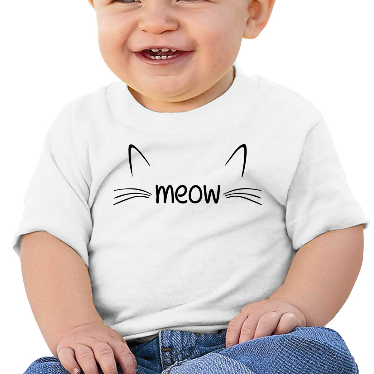 Cat Meow 2 Short-Sleeves Tee Baby Girls