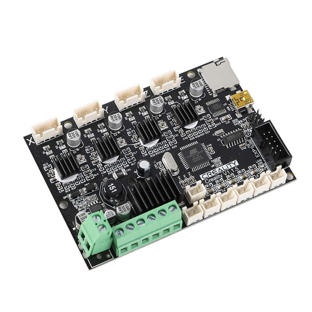 Volwco Creality V1.1.5 Silent Mainboard with TMC2208 Driver,Newst Upgrade 3D Printer Motherboard for Ender 3//Ender 3 Pro//Ender 5//CR-10