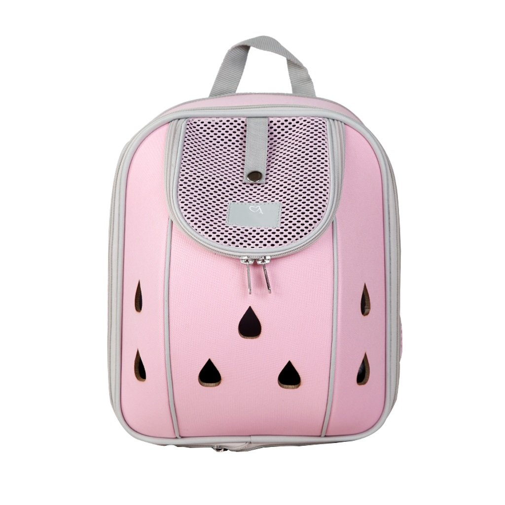 M(05kg) Pet Carrier Astronaut Pink Pet Carrier Backpack Breathable Double Shoulder Bag Portable Capsule Front Back Breathable Mesh Window Backbag for Traveling Backpack Capsule Breathable (Size   M(05kg))
