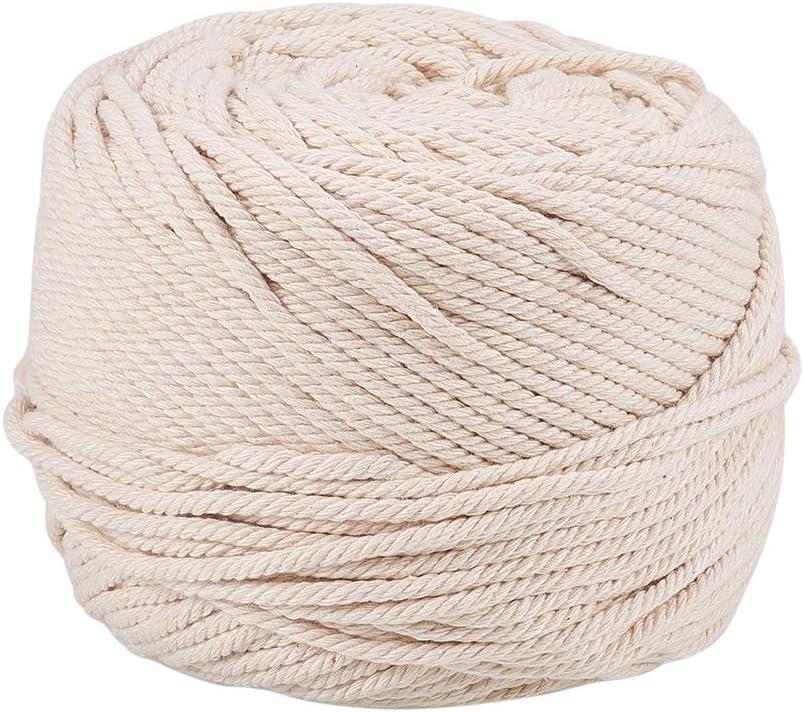 PandaHall Aproximadamente 109 Yardas Hilos de Hilo de algodón de 4 mm Hilos Blancos Navajo Cordón de macramé Guita de algodón para Colgar Plantas Colgante de Pared Fabricación de artesanías macramé: Amazon.es: