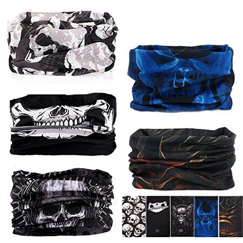 5 PCS UV Headwear Versatile Outdoors Head Wrap,Neck Gaiter, Fishing Mask,Magic Scarf,Tube Mask, Face Bandana Mask,Neck Balaclava and Sport Scarf Multifunctional Stretchable (5PCS-Set-25)