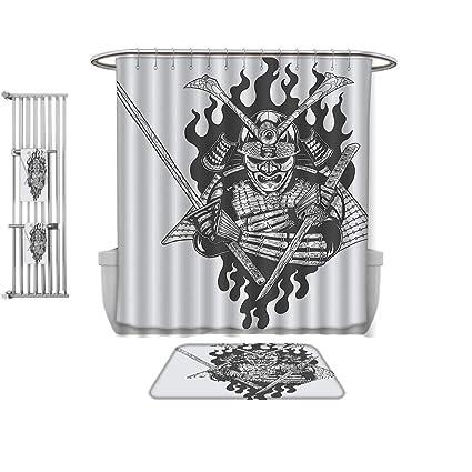 Amazon.com: QINYAN-Home Shower Curtain Set-Japanese Decor ...