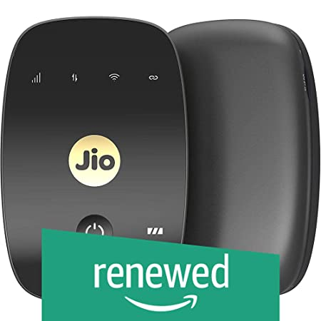 Renewed  JioFi 4G Hotspot M2S 150 Mbps Jio 4G Portable Wi Fi Data Device  Black  Data Cards   Dongles