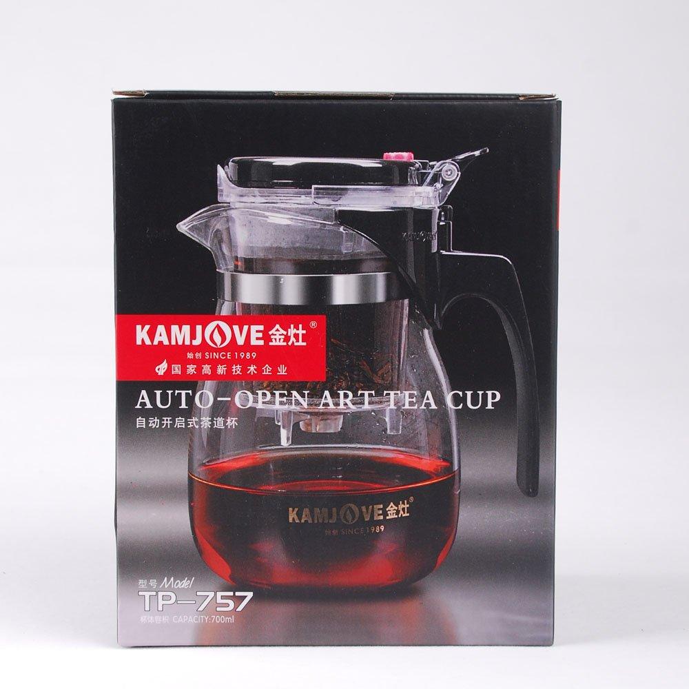 KAMJOVE verre Gongfu Teapot Avec Infuser Tasse 700ml Yeme TP-757