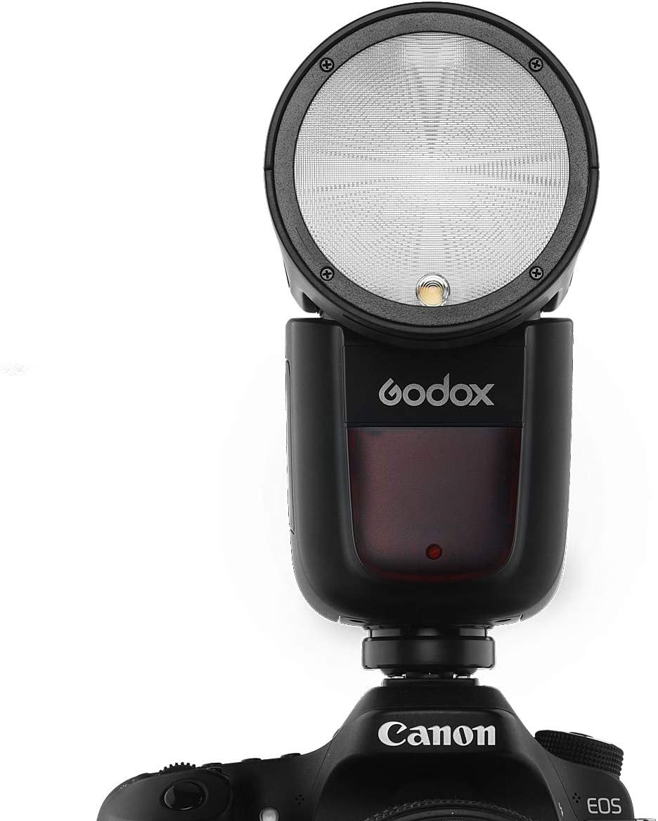 2600mAh Lithimu Godox V1-S with Godox AK-R1 Accessories kit for Sony Recycle Time 1//8000 HSS 1.5 sec V1 Li-on TTL On-Camera Round Head Flash Speedlight 76Ws GN92 2.4G