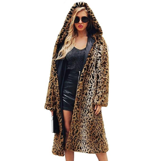 DEELIN 2018 Moda De Invierno De La Mujer Sexy Leopardo Caliente Chaqueta De Piel De Felpa