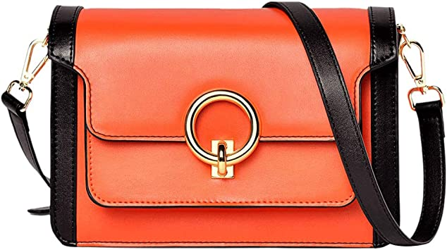 GENUINE LEATHER NEW LADIES SMALL SQUARE CROSSBODY SHOULDER BAG