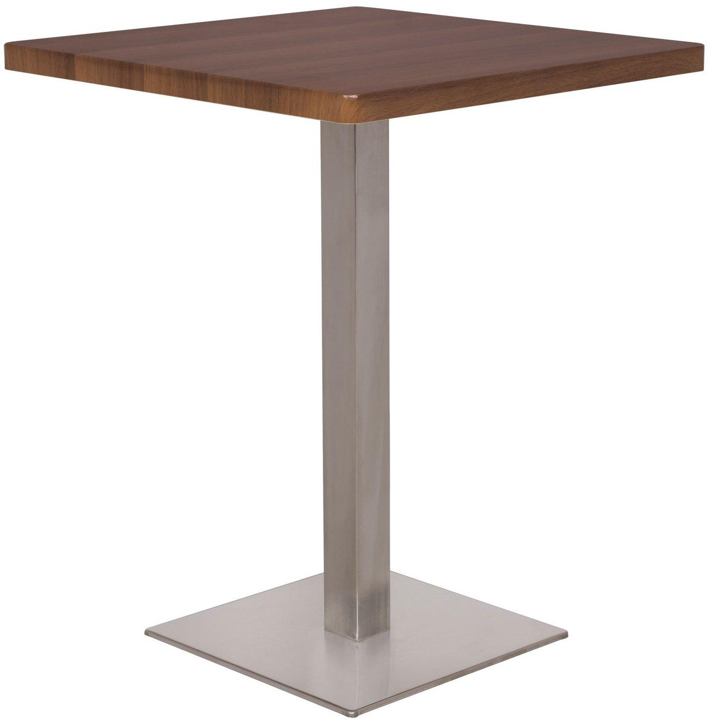 SixBros. Tavolo da Bar Tavolo Alto Noce Effetto legno 60x60x75 - M-BT60/1431