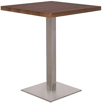 Tavolo da Bar Tavolo Alto Noce Effetto legno 60x60x75 - M-BT60 ...