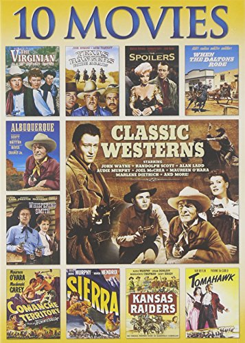Classic Westerns, 10-Movie Collection: When Daltons Rode / The Virginian / Whispering Smith / The Spoilers / Comanche Territory / Sierra / Kansas Raiders / Tomahawk / Albuquerque / Texas Rangers Ride Again (Tv Movies Dvd)