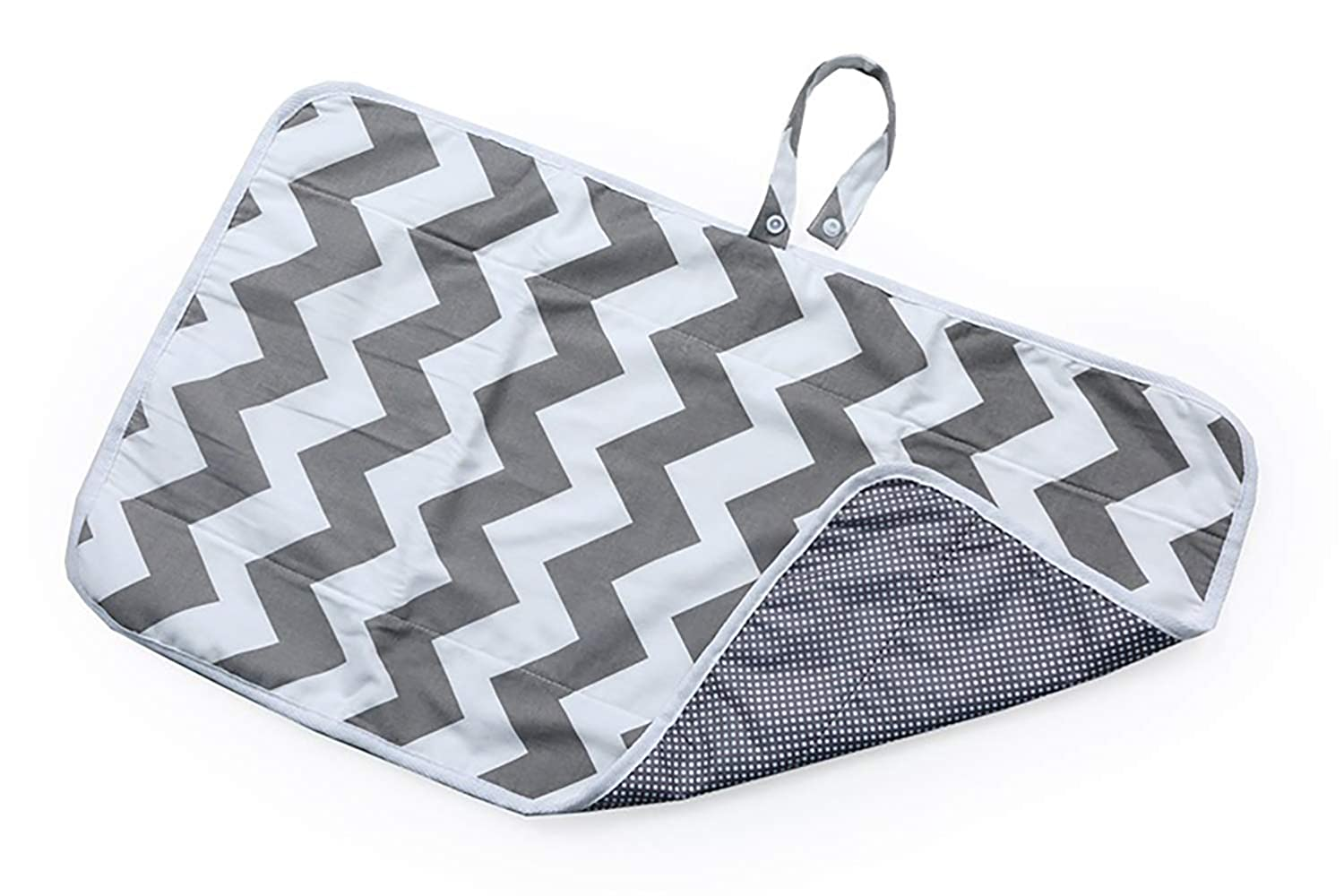 Opens to 15 x 25 Waterproof Fully Padded for Babys Comfort Grey Full Body Portable Baby Changing Pad