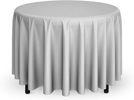 "108/"" Round Tablecloth Fabric Linen Cloth Dinner Wedding Banquet"