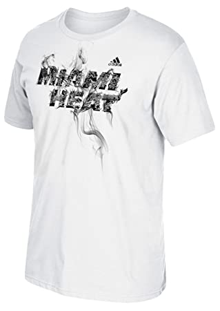 Adidas &apos Miami Heat NBALa Flama Blanca Men s – Camiseta, ...