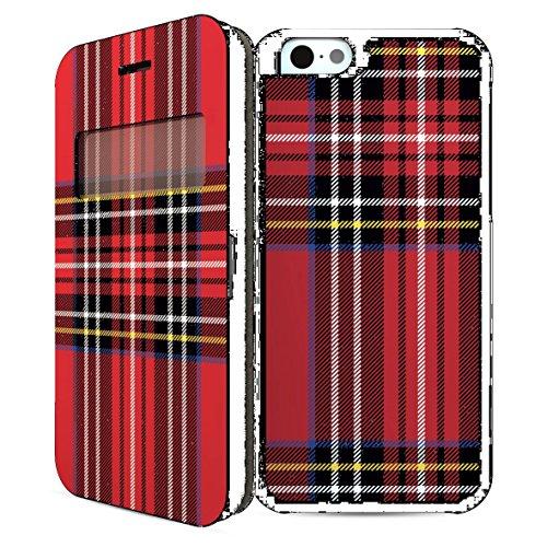 i-Paint-Case Schutzhülle für iPhone 6, Motiv Karo, rot