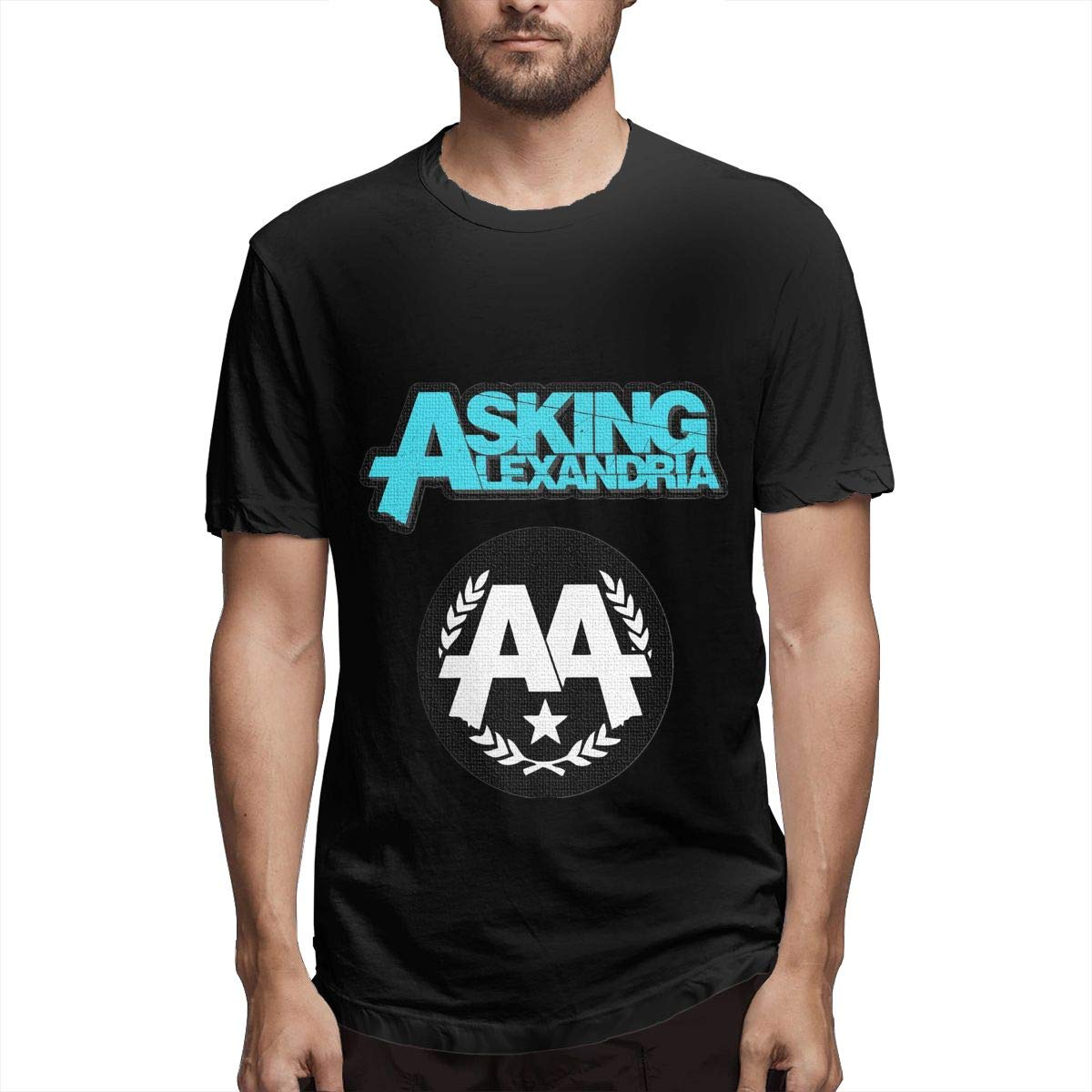 Lihehen Man Asking Alexandria Logo Webp Simple Casual Round Neck T Shirts