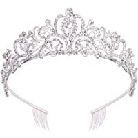 Didder Silver Crystal Tiara Crowns For Women Girls Princess Elegant Crown with Combs Women's Headbands Bridal Wedding…