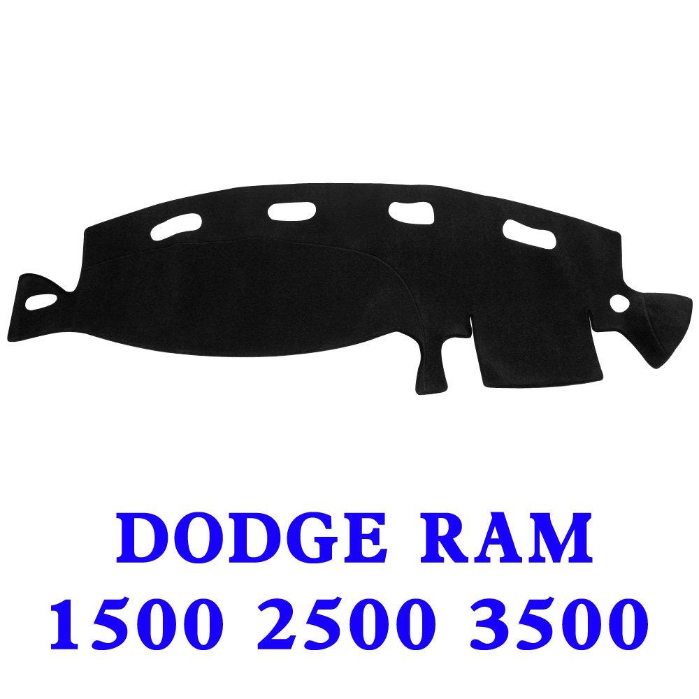 JIAKANUO Auto Car Dashboard Dash Board Cover Mat for Dodge RAM 1500 2500 3500 1998-2001 (Black)