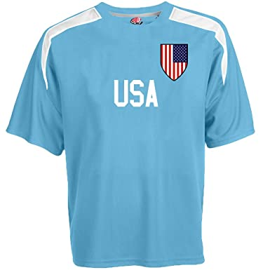 798894eb1 Hardkor Sports Customized USA Soccer Jersey Adult Small in Columbia Blue  and White
