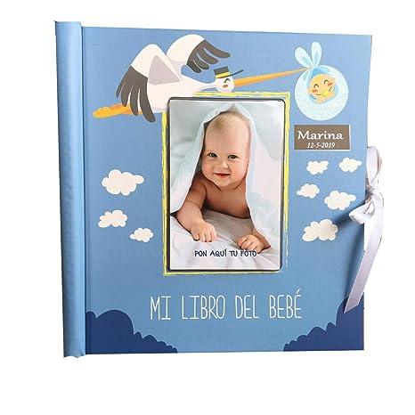 Libro del bebé. Álbum de recuerdos del bebé. Personalizado con placa ...