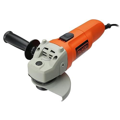 Black+Decker KG115-QS - Amoladora, 115 mm, 750 W, 230 V, color gris y naranja
