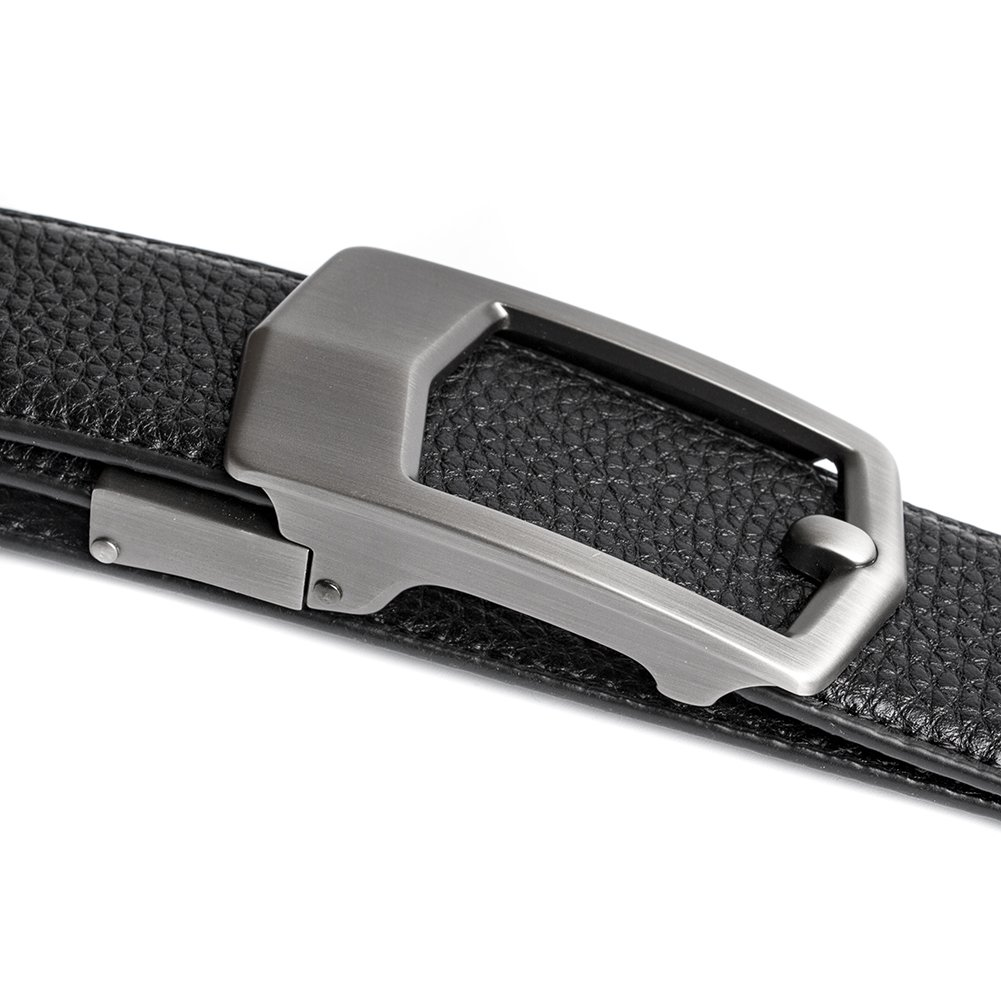 ECHAIN Men's Ratchet Genuine Leather Belt with Automatic Buckle 36mm Wide by ECHAIN (Image #5)