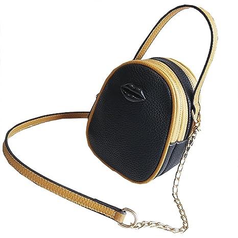 Bolso Cuero Onfashion Diseño Mujer Labios Pu De Mano dwwxIq67