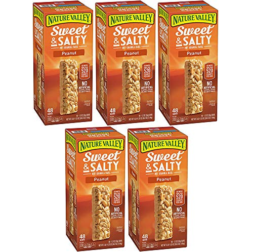 Nature Valley Sweet and Salty Granola Bars Peanut dipped in Peanut Butter Coating, 48 Bars (5 Boxes) by Nature Valley (Image #1)