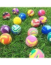 TOYANDONA 25pcs Mixed Color Bouncy Balls Bulk Comfortable Eco-Friendly Rubber Toy Balls Jumping Balls  Kids Children