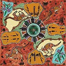 Australian Aboriginal fabric, Mirram Mirram Aka Red by Nambooka