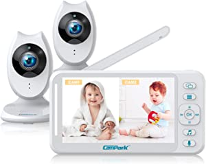 Campark Baby Monitor with 2 Cameras - Video Baby Monitors with Camera and Audio, 4.3