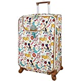 Lily Bloom Luggage 24'' Expandable Design Pattern Suitcase With Spinner Wheels For Woman (24in, Furry Friends)