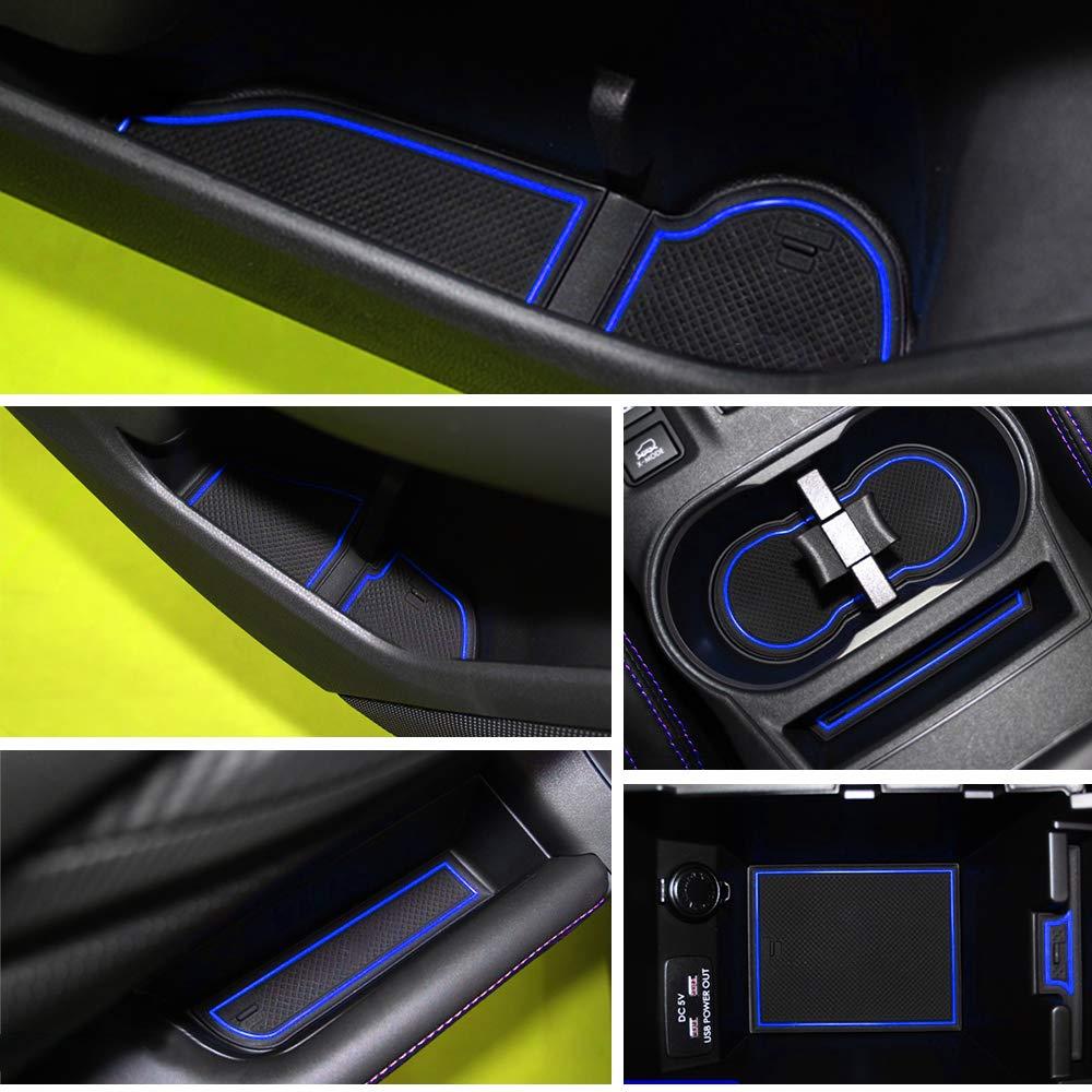 ALLYARD Custom Fit for Subaru XV 2015 2016 2017 Door Gate Slot Storage Pad Interior Cup Mats Console Liner Accessories Non-Slip Anti-dust Rubber 19Pcs//Set Red