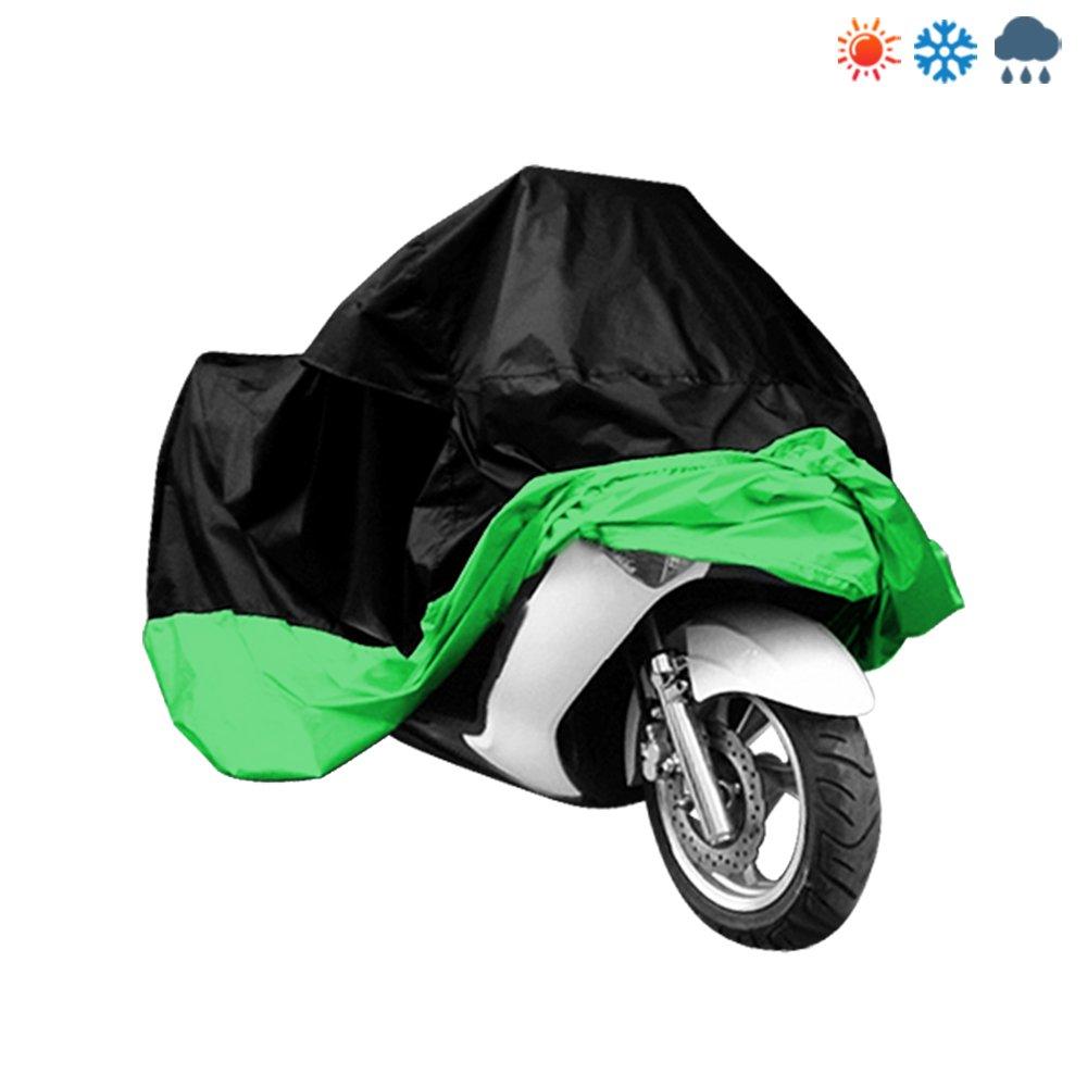 XL Bache Housses Etui Protection Pour Moto Scooter Motocyclette Vé lo (Noir et Vert) SpecialShare