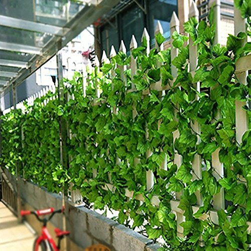 Youfui 82ft Artificial Grape Ivy vine Faux Leaf Garland Plants Fake Foliage Green - Grape Vine Mall